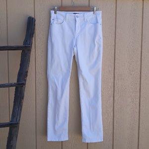 NYDJ Lift Tuck Skinn White Sheri Slim Stretch Jean